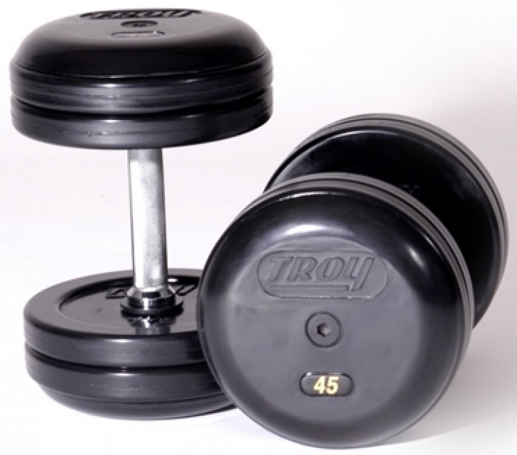 Picture of TROY Pro Style Dumbbells - Rubber Encased