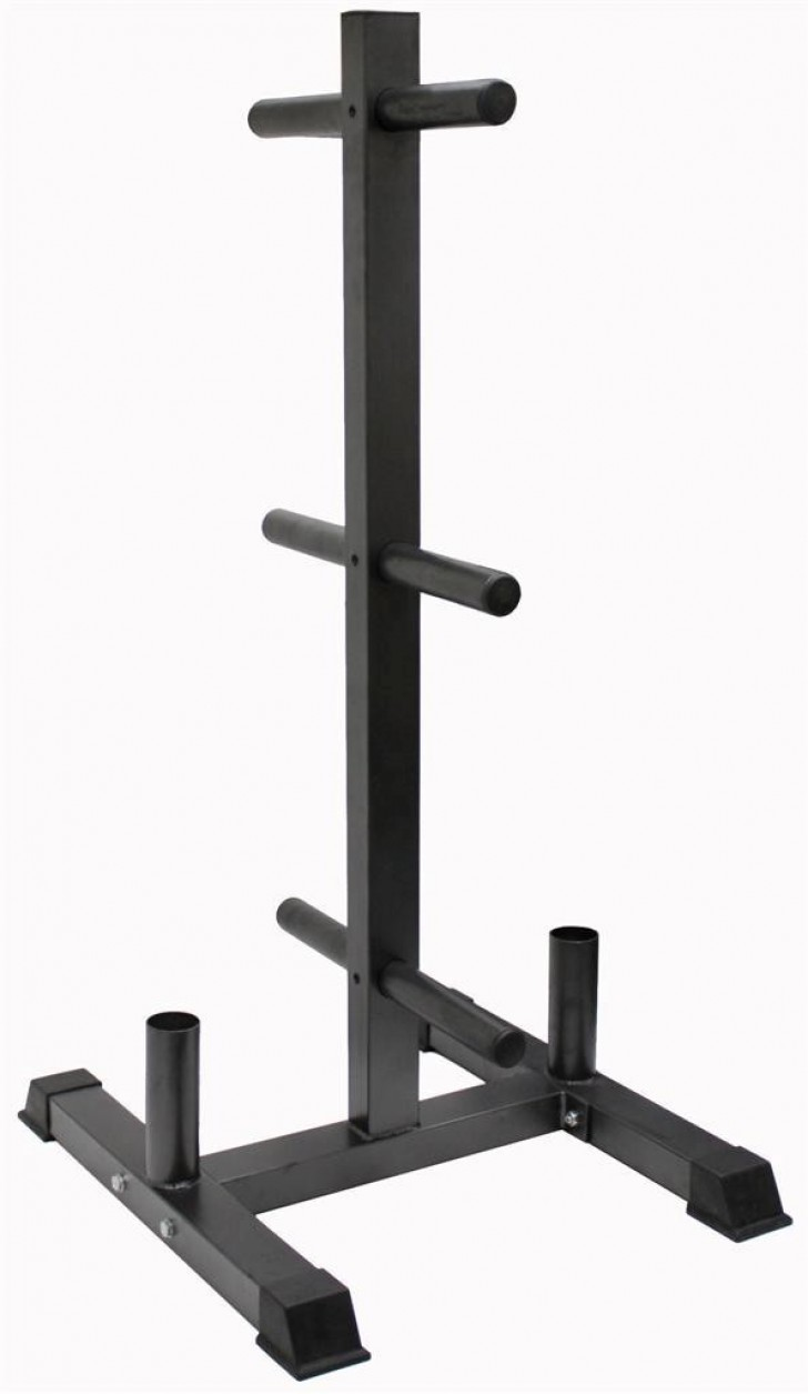 Picture of Vertical Olympic Bumper Plate and Bar Rack  GOPT