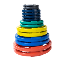 Color Rubber Grip Olympic Plates