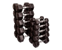 Dumbbells - Rubber Coated Hex