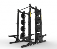 Titan Double Half Rack with Storage 3″x3″