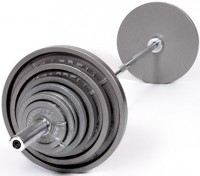 300 Lb Olympic Weight Set with Chrome Bar