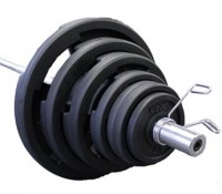 VTX Rubber Olympic 300 lb. Weight Set