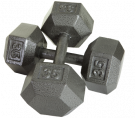 Picture of Solid Hex DumbbellsSolid Hex Dumbbells