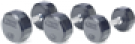 Picture of Troy 12 Sided Rubber Encased Dumbbells